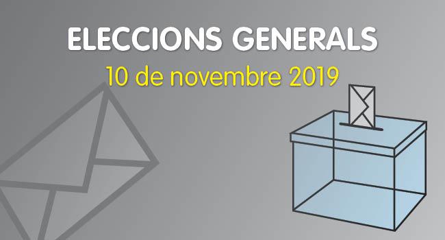 Eleccions generals, 10 de novembre 2019