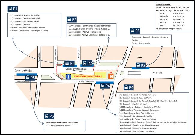 Es reforça la informació per als usuaris de l'estació d'autobusos, on es fan obres de millora
