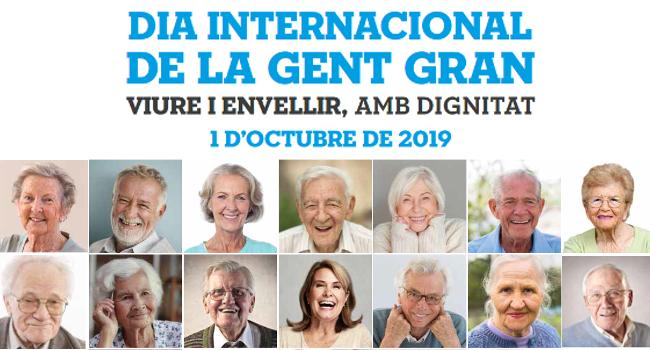 La celebració del Dia Internacional de la Gent Gran reivindica viure i envellir amb dignitat
