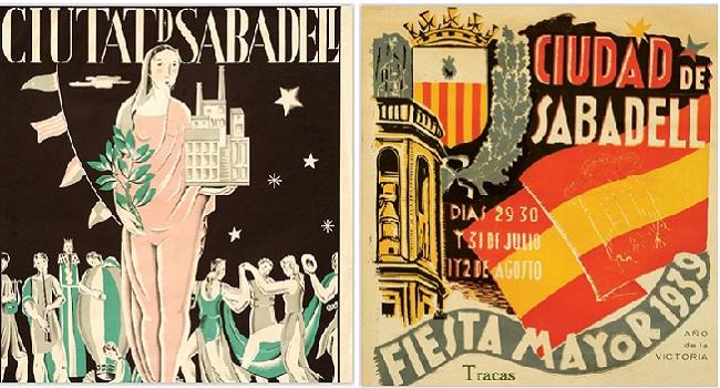 El Museu d'Art exposa el primer i l'últim cartell de la Festa Major durant la Guerra Civil
