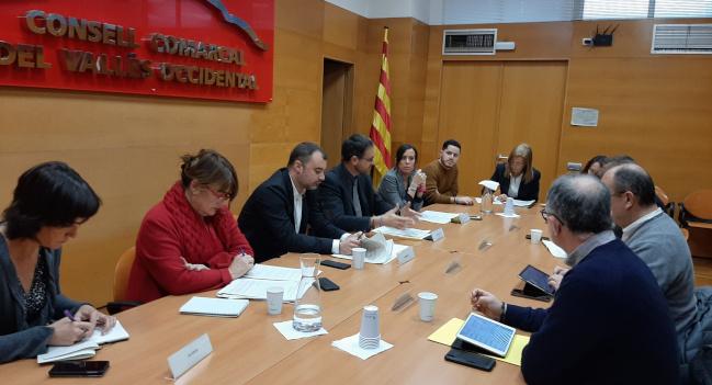 Imatge de la reunió al Consell Comarcal del Vallès Occidental