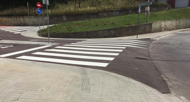 Acabades les obres per alentir la velocitat dels vehicles a Torre-romeu i a Espronceda