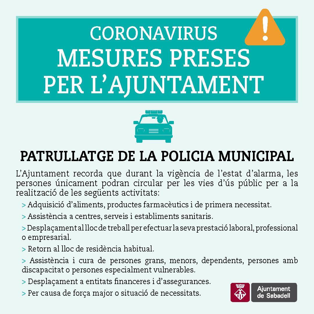 Patrullatge de la policia municipal