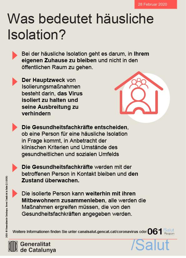 Was bedeutet häusliche Isolation