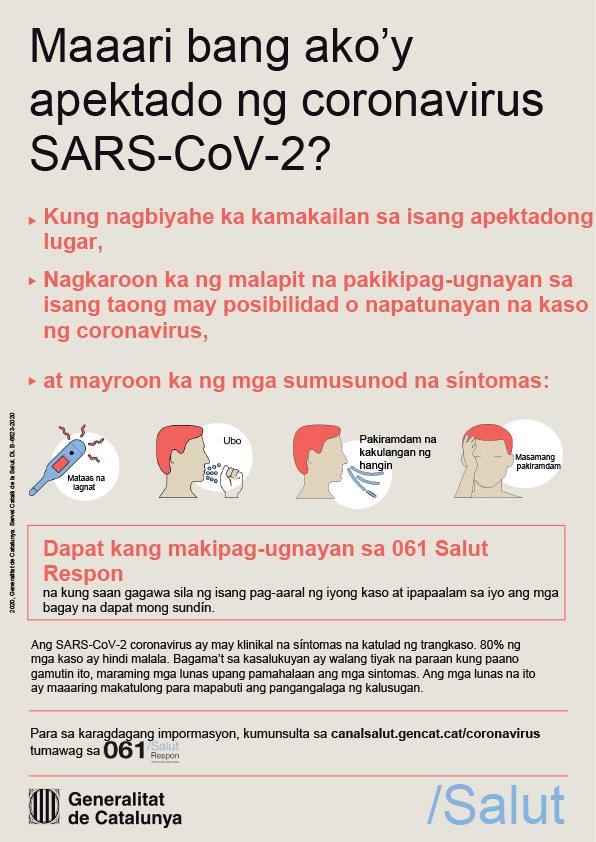 Maaari bang ako'y apektado ng coronavirus  SARS-COV-2