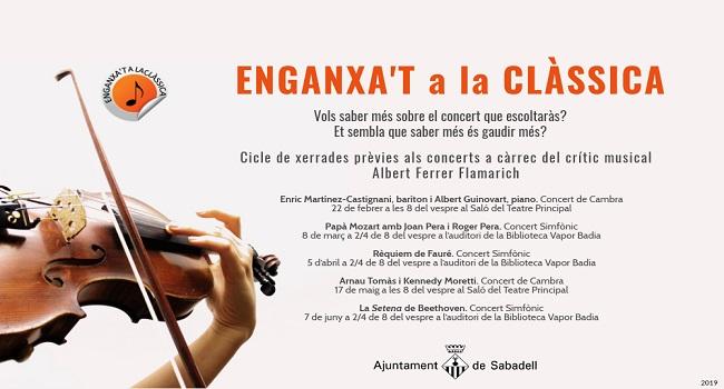 Els concerts de música clàssica i simfònica de Sabadell es complementaran amb xerrades informatives prèvies