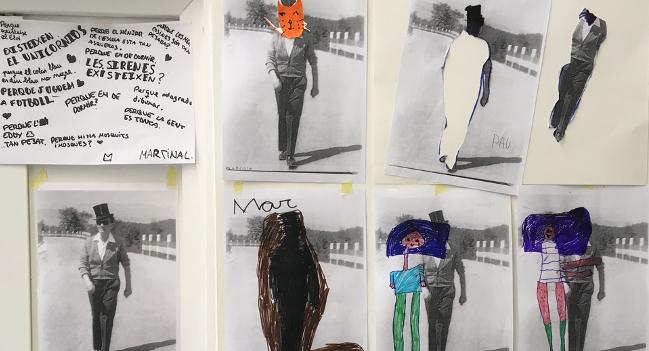 Les obres dels Tallers d'Art de l'Escola Illa reten homenatge a Joan Brossa