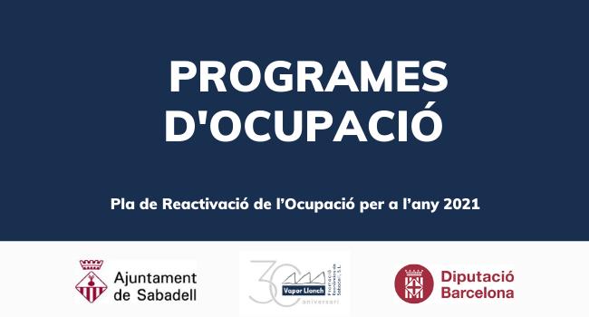 Sabadell rep 645 mil€ de la Diputació de Barcelona per millorar la inserció laboral de persones en situació d'atur