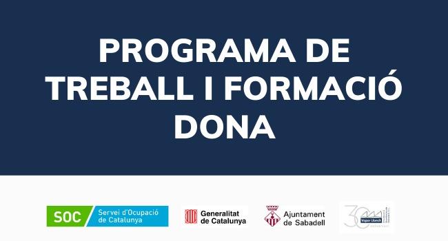 Sabadell rep prop de 320 mil € de la Generalitat per a la reedició del programa de formació i treball específic per a dones en situació d'atur