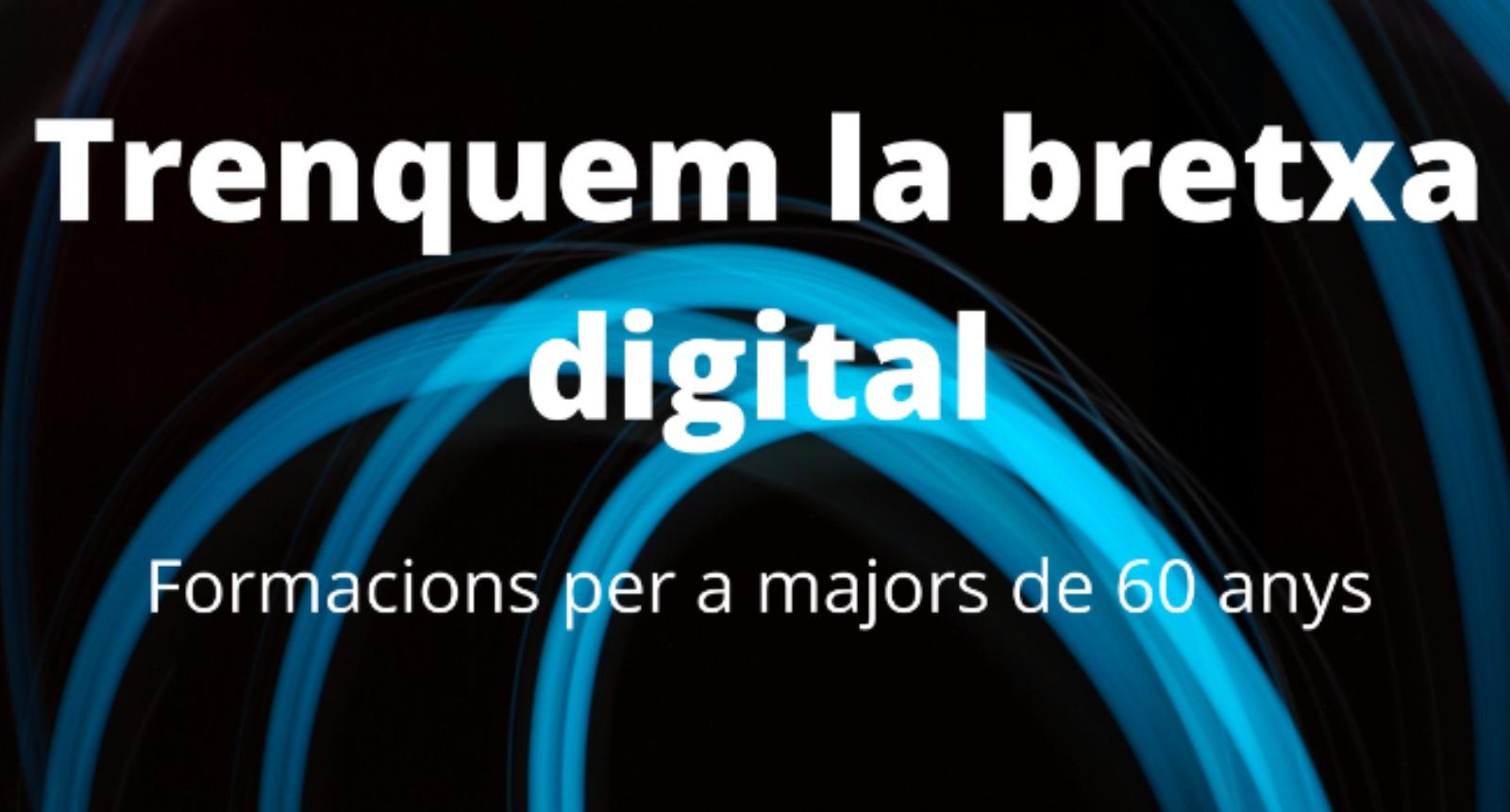 Formació a entitats i persones grans per evitar la bretxa digital