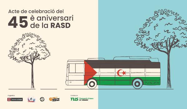Els autobusos de Sabadell difondran l'Agermanament de Sabadell amb el poble sahrauí amb motiu del 45è aniversari de la proclamació de la República Àrab Sahrauí Democràtica