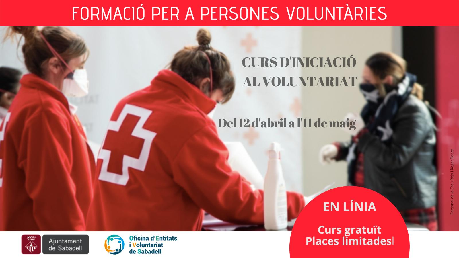 Obertes les inscripcions per a un nou curs en línia d'iniciació al voluntariat