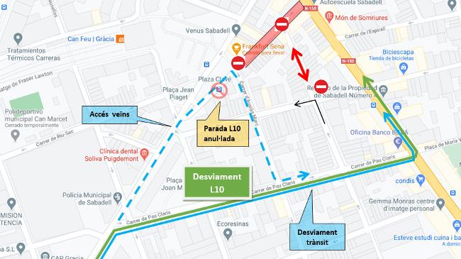 Comença la renovació de la claveguera del carrer del Pintor Pradilla, al barri de Gràcia