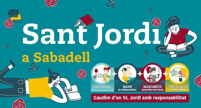 Una diada de Sant Jordi diferent, però amb molta activitat a Sabadell