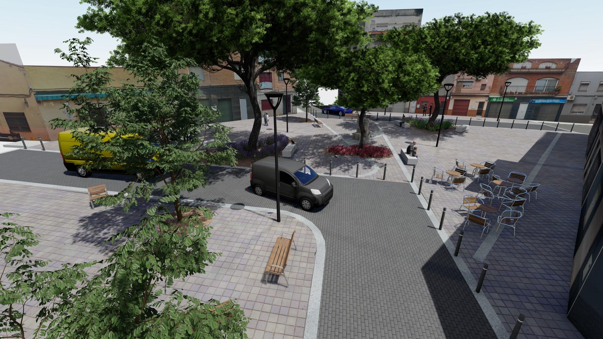 L'Ajuntament licita les obres de la plaça de la Fuensanta, al barri de Ca n'Oriac