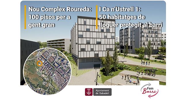 La Roureda tindrà un Complex per a gent gran, pisos protegits i nous espais verds