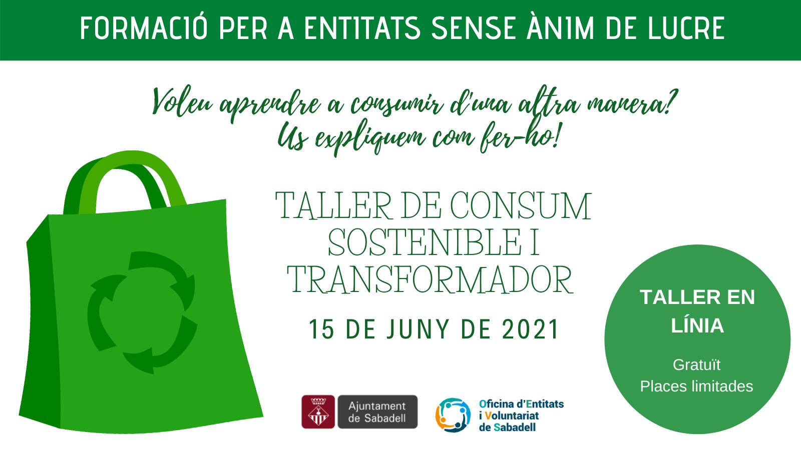 Obertes les inscripcions al taller de consum sostenible i transformador adreçat a entitats