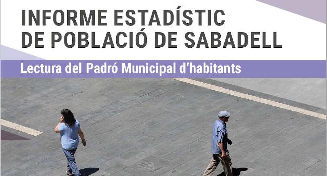 Sabadell té 216.337 habitants, segons les darrers dades del padró