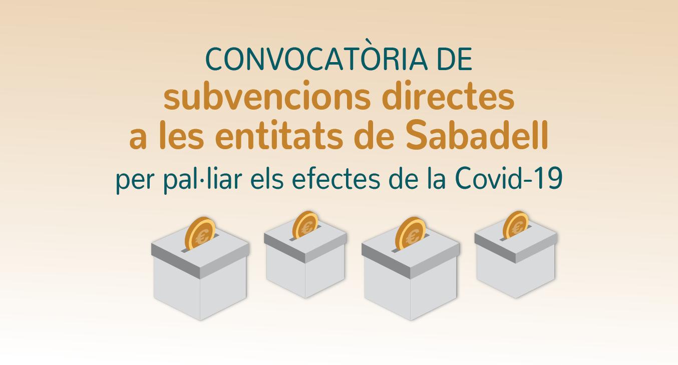 S'obre el termini perquè les entitats sense ànim de lucre sol·licitin subvencions per pal·liar els efectes econòmics de la COVID-19