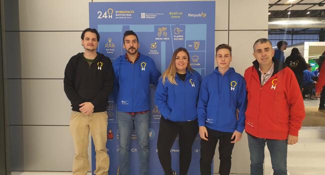 Reconeixement a una professora i a una alumna de l'Institut Castellarnau premiades en les 24 h d'Innovació de Barcelona