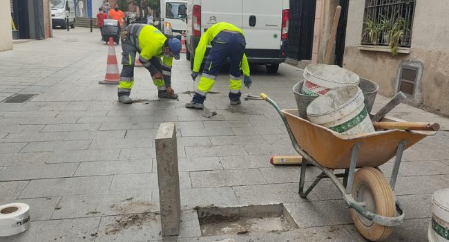Es millora el paviment de calçades i voreres de quatre districtes de Sabadell
