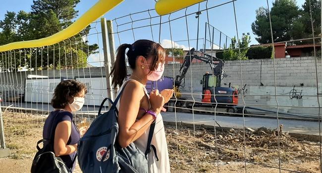 Comencen les obres del nou camí escolar de l'Escola Pau Casals
