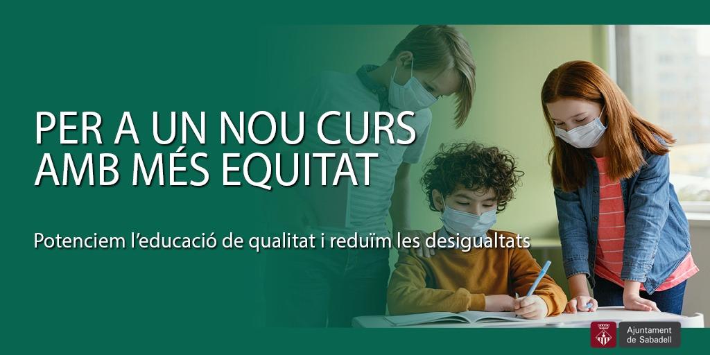 Els programes i accions per l'equitat i per potenciar al màxim la qualitat educativa, eixos fonamentals per a aquest curs 21-22