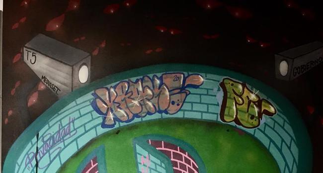 """Obertura al públic de l'exposició """"Grafits pels drets humans"""", al Casal Pere Quart"""