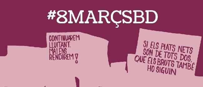 8 de març: mantenim viva la lluita feminista