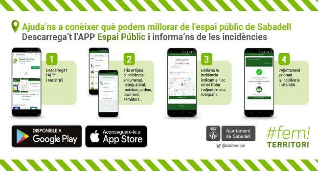 Una nova aplicació mòbil permet que la ciutadania informi de qualsevol incidència a l'espai públic