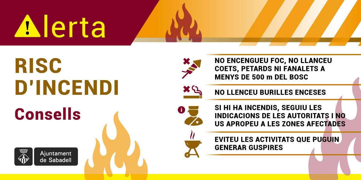 Davant la previsió d'altes temperatures, l'Ajuntament de Sabadell recorda la prohibició de fer foc al rodal