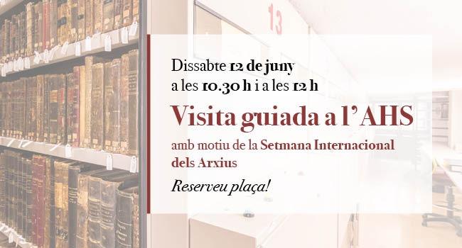 Visita guiada a l'Arxiu Històric de Sabadell, amb motiu del Dia Internacional dels Arxius