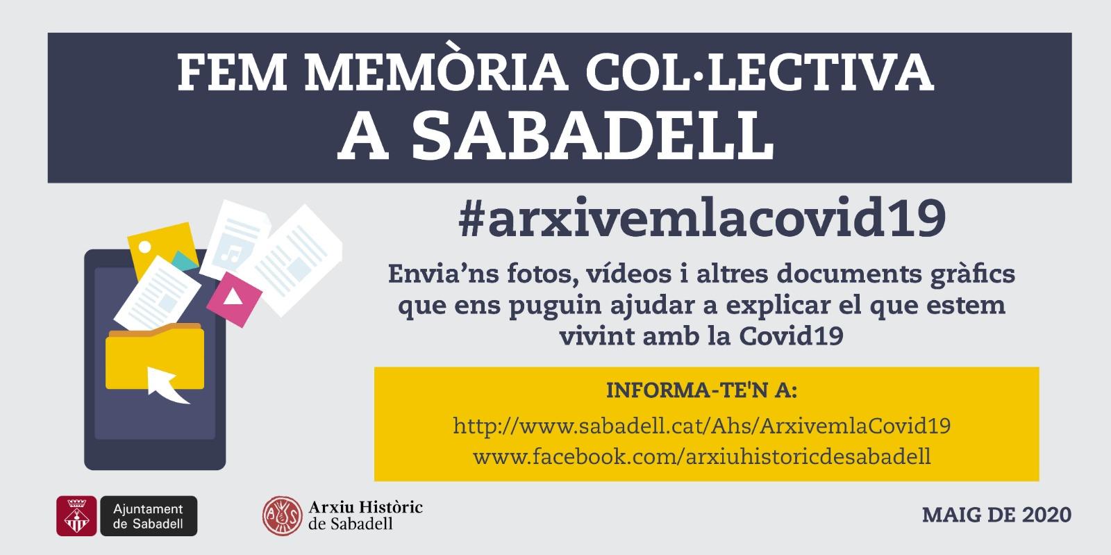 L'Arxiu Històric recull tot tipus de material que ajudi a documentar de cara al futur com s'ha viscut la Covid-19