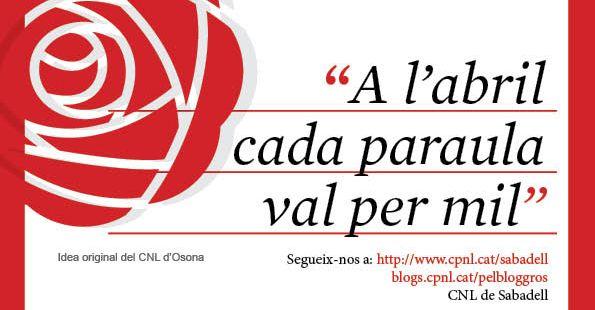 Uns 400 establiments de Sabadell s'engalanen amb paraules per Sant Jordi