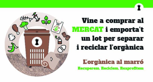 Sabadell continua amb el foment de la separació i reciclatge de les restes orgàniques, ara als mercats