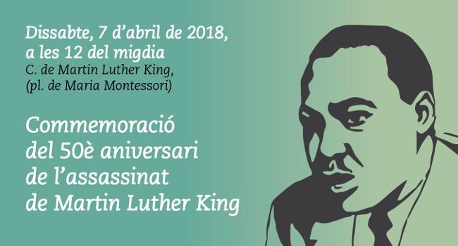 Una placa commemorativa recordarà a Sabadell el cinquantè aniversari de la mort de Martin Luther King