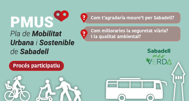 L'Ajuntament desplega un procés participatiu per elaborar el Pla de Mobilitat Urbana Sostenible per als propers sis anys