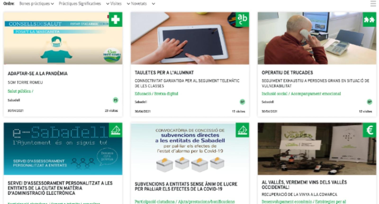 El Banc de Bones Pràctiques Local escull cinc iniciatives de Sabadell per respondre als efectes de la COVID-19