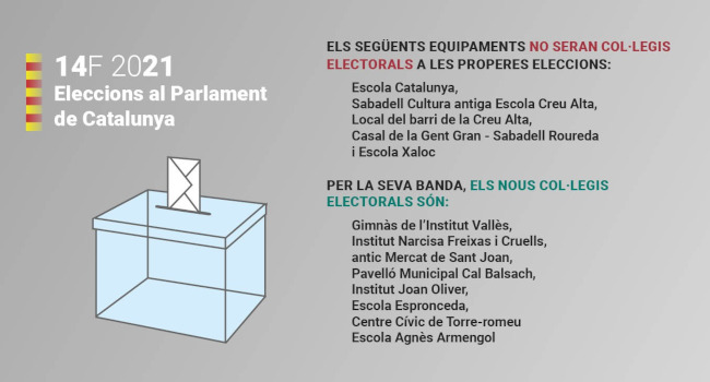 L'Ajuntament treballa per garantir el dispositiu de mesures de seguretat de la salut per a les eleccions al Parlament del 14 de febrer