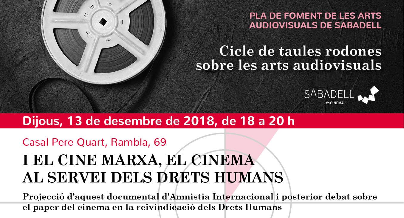 """Projecció del documental """"I el cine marxa, el cinema al servei dels drets humans"""""""