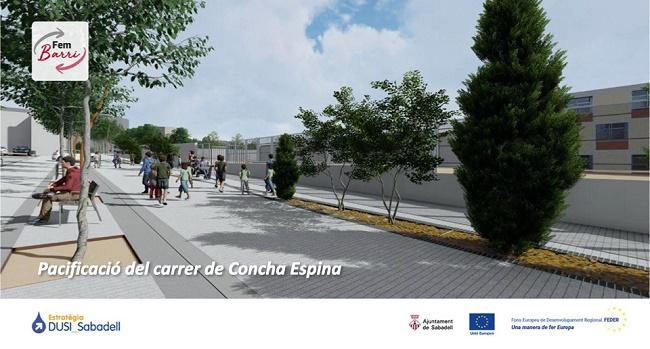 Un nou avenç en els treballs de pacificació del carrer de Concha Espina
