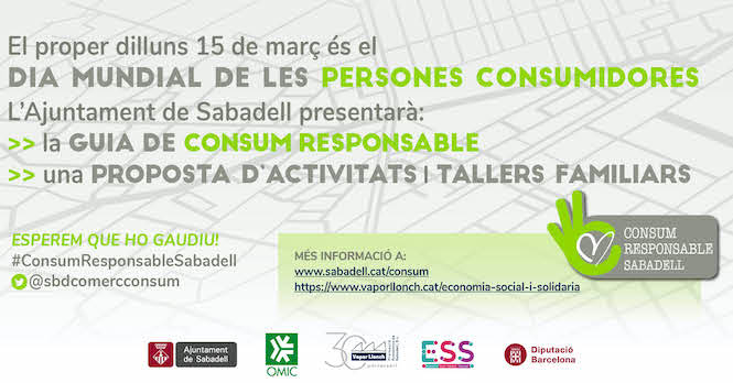 El Dia Mundial dels Drets de les Persones Consumidores es commemora amb un programa d'activitats i tallers familiars