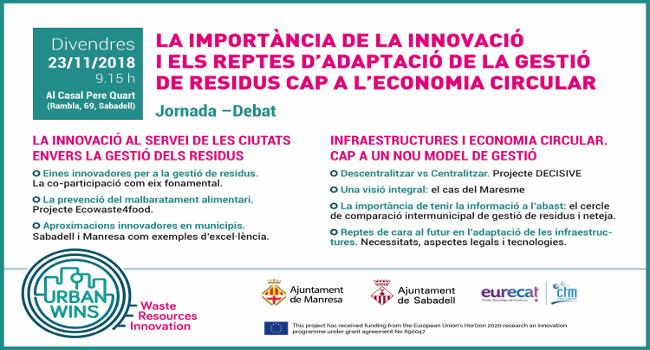 Sabadell acollirà una jornada de debat sobre nous models de gestió de residus