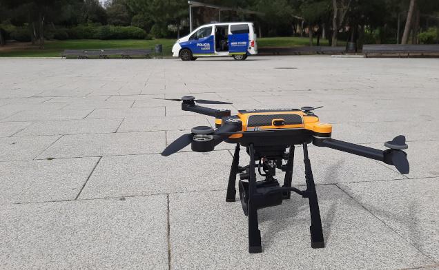 La Policia Municipal vigila des d'avui que es respectin les restriccions a la mobilitat també amb drons