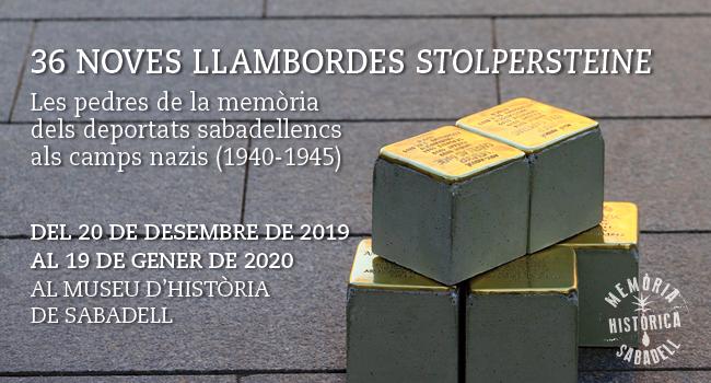 Trenta-sis noves llambordes 'stolpersteine' s'exposen al Museu d'Història, abans de col·locar-les a finals de gener