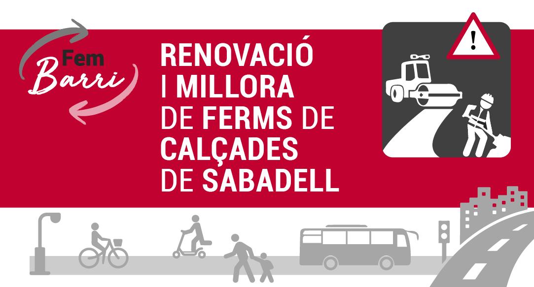El pla de millora de ferms continua a diferents punts de Sabadell