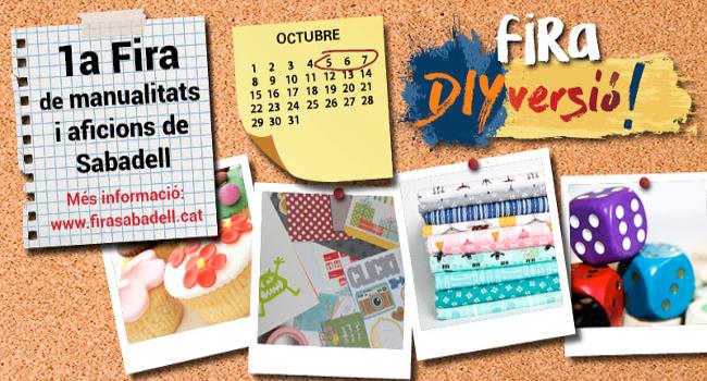 La 1a fira de manualitats i aficions de Sabadell, DIYversió!, obre portes aquest cap de setmana a la Fira Sabadell