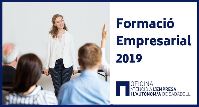Inscripcions obertes dels cursos de Formació Empresarial, amb una oferta de 10 activitats formatives