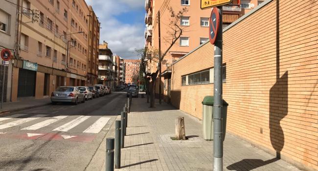 L'Ajuntament millora l'accessibilitat del carrer del Mont Blanc, al barri de Ca n'Oriac