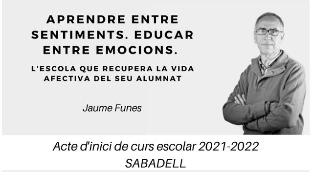 Una xerrada de Jaume Funes, acte d'inici del curs escolar a Sabadell